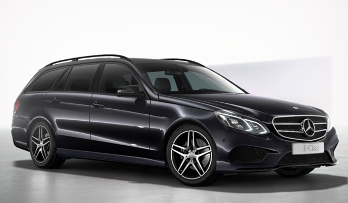 Mercedes E class with chauffeur service