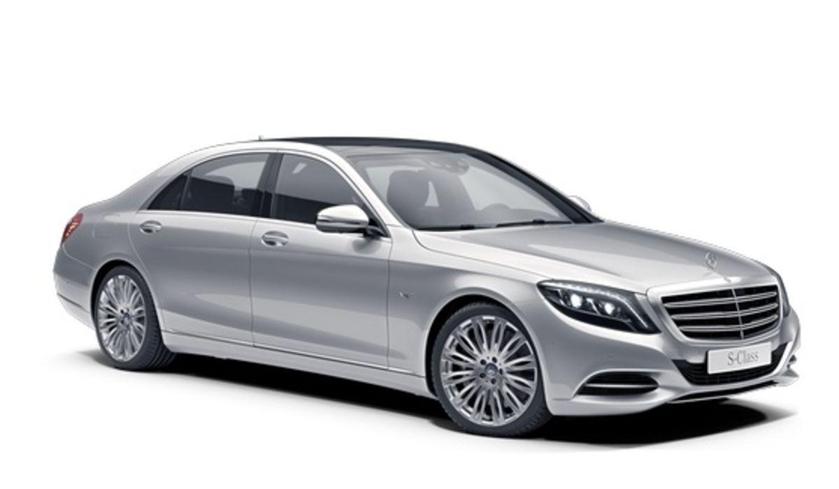 Mercedes S class sedan with chauffeur service